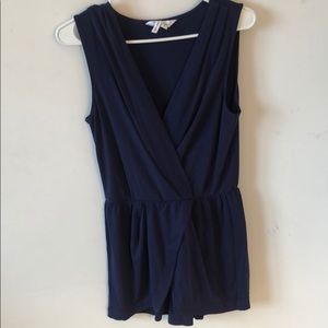 Blue BCBGeneration sleeveless romper, size S